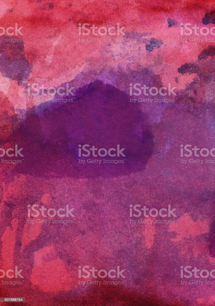 Vivid red and purple shades of paint and distressed texture stock photo