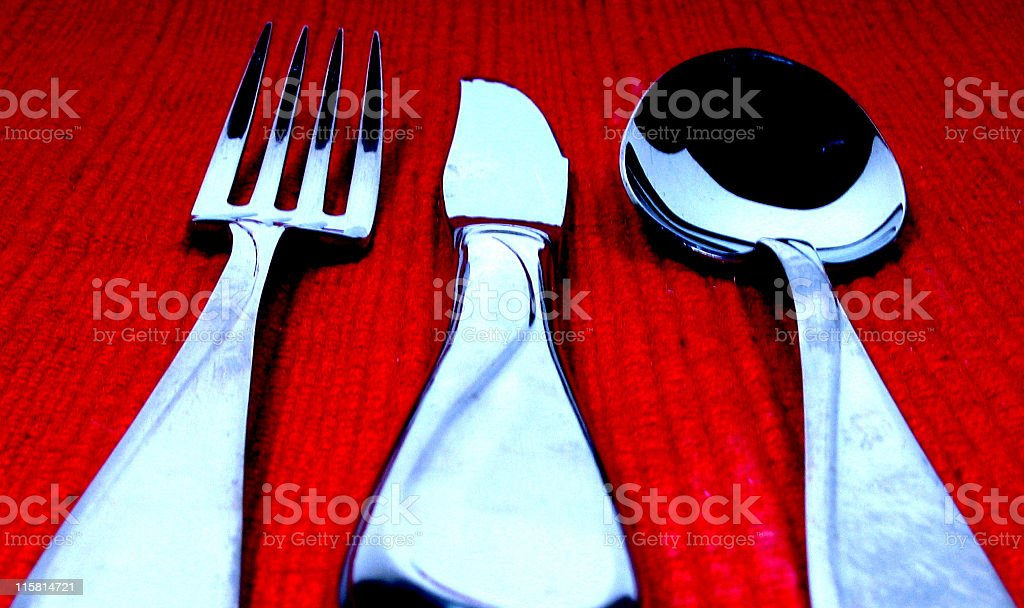 Vivid silverware royalty-free stock photo