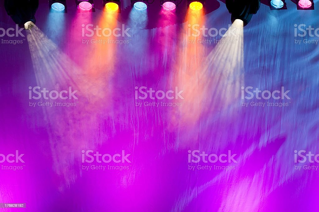 vivid stage spotlights royalty-free stock photo