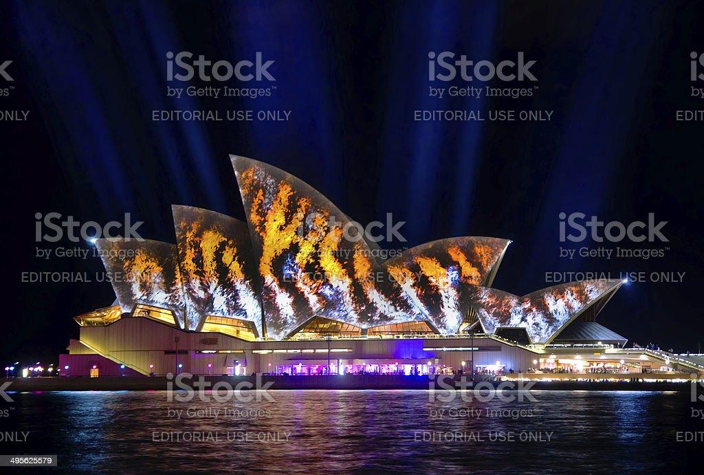 Vivid Sydney 2014 - Opera House royalty-free stock photo