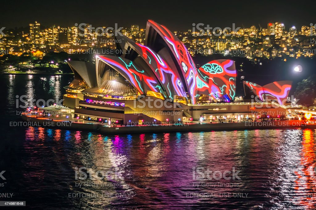 Vivid Sydney 2015 - Sydney Opera House stock photo