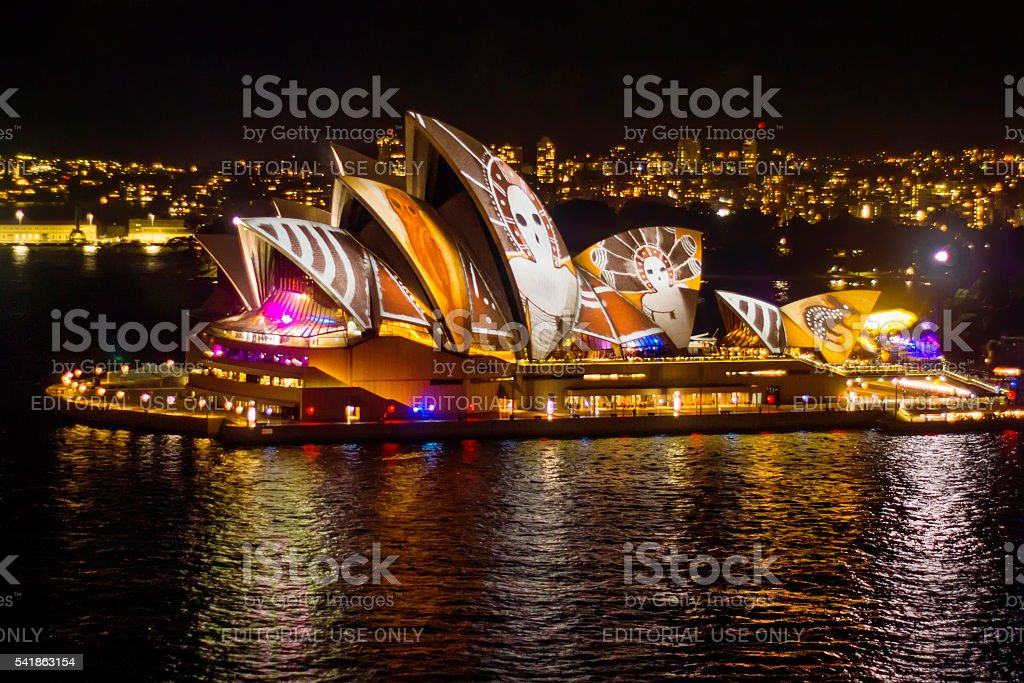 Vivid Sydney 2016 - Opera House stock photo