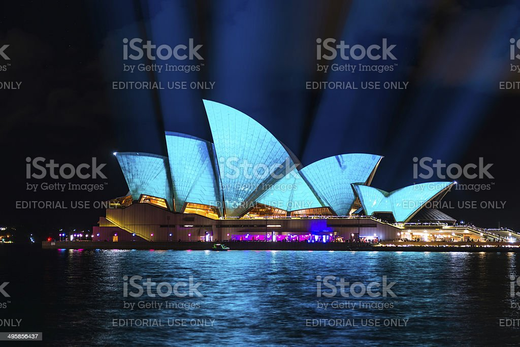Vivid Sydney: A Festival of Light, Music & Ideas stock photo