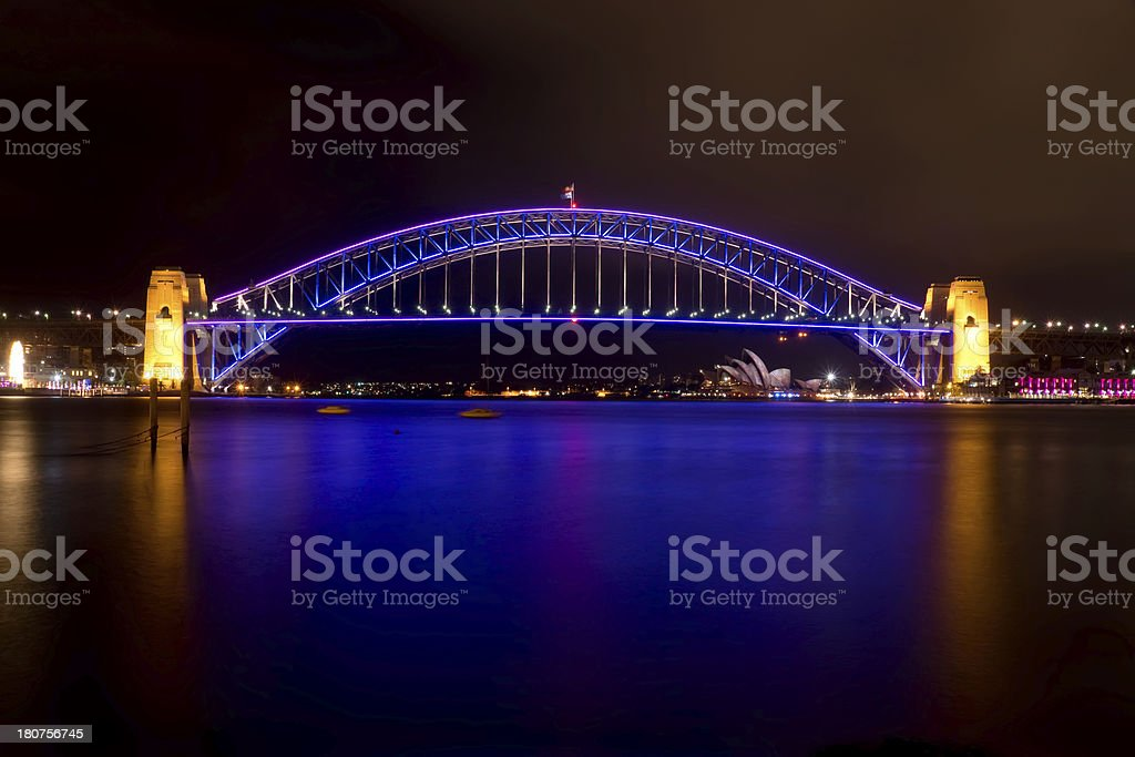 Vivid Sydney - Harbour Bridge royalty-free stock photo