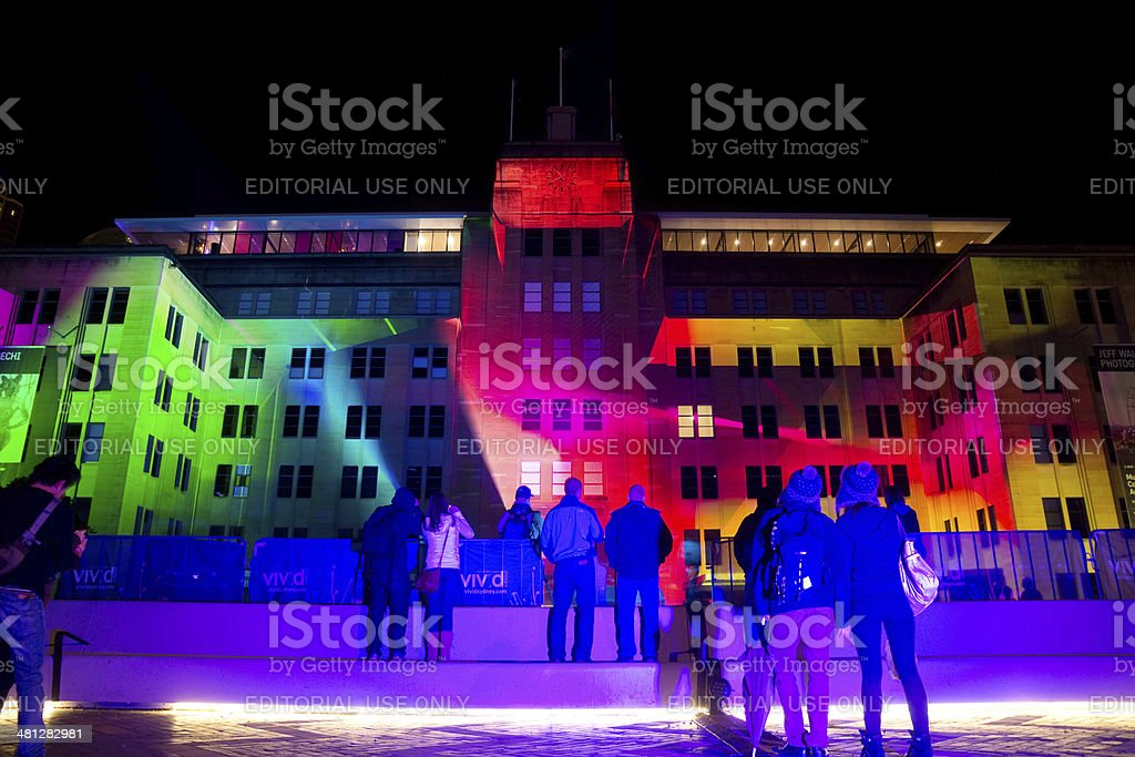 Vivid Sydney - Museum of Contemporary Art royalty-free stock photo