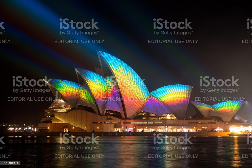Vivid Sydney - Opera House royalty-free stock photo