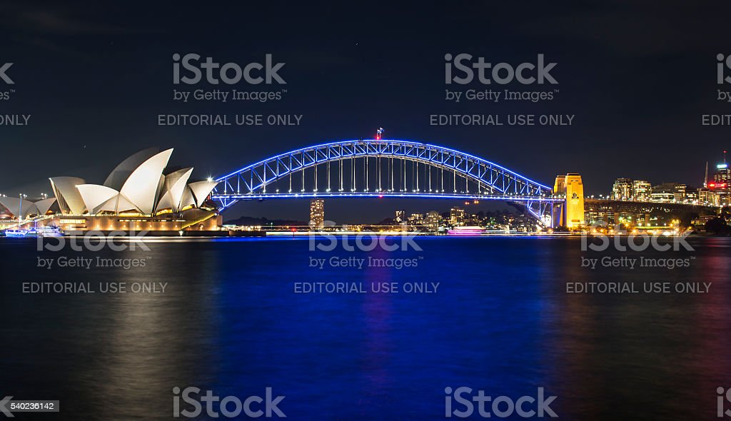 Vivid Sydney - Sydney Harbour stock photo