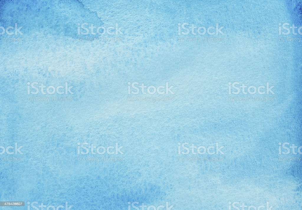 Vivid turquoise blue watercolor background stock photo