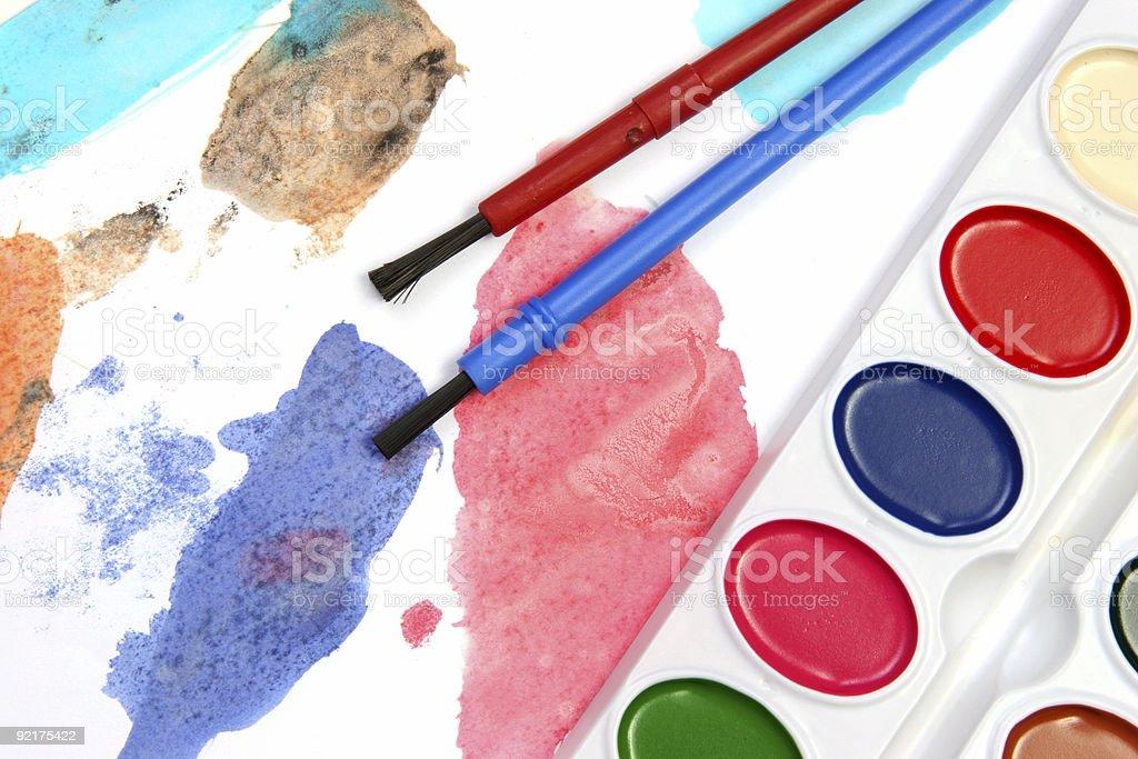 Vivid watercolors stock photo