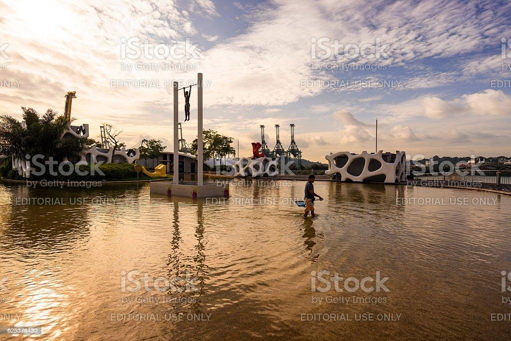 Vivo City shopping mall near Sentosa island Singapore stock photo