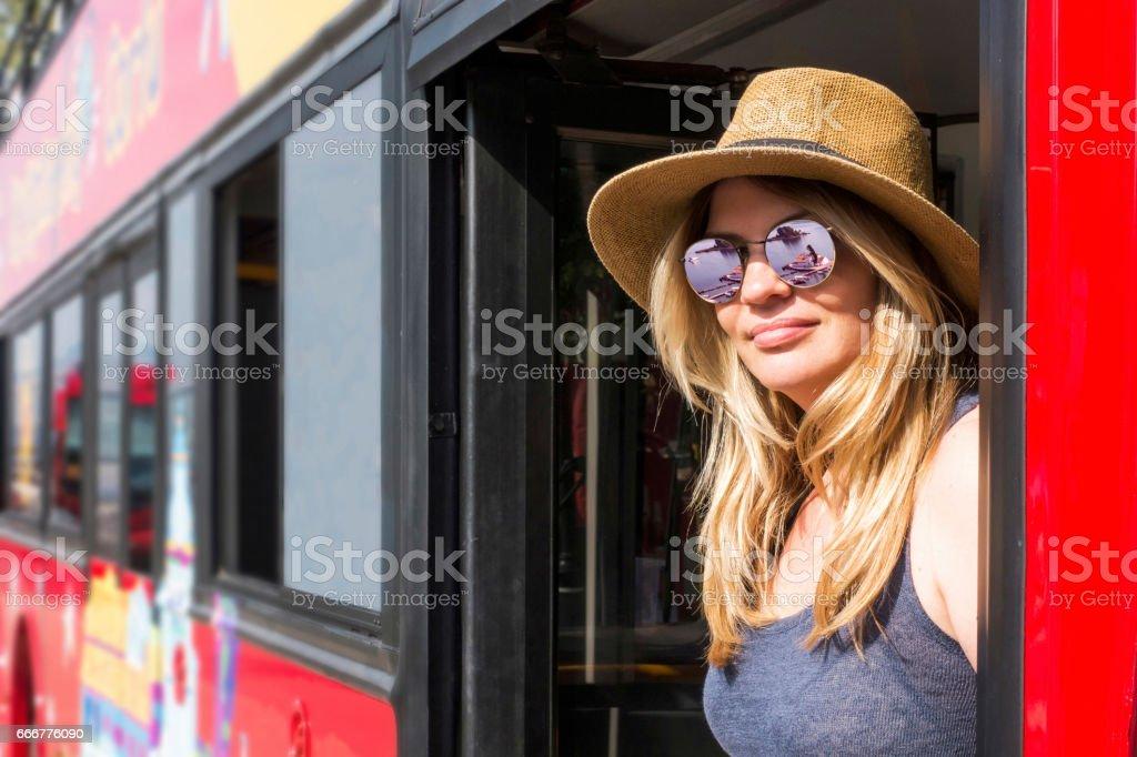 Vlacherna Monastery and Pantikonisi reflection on sunglasses stock photo