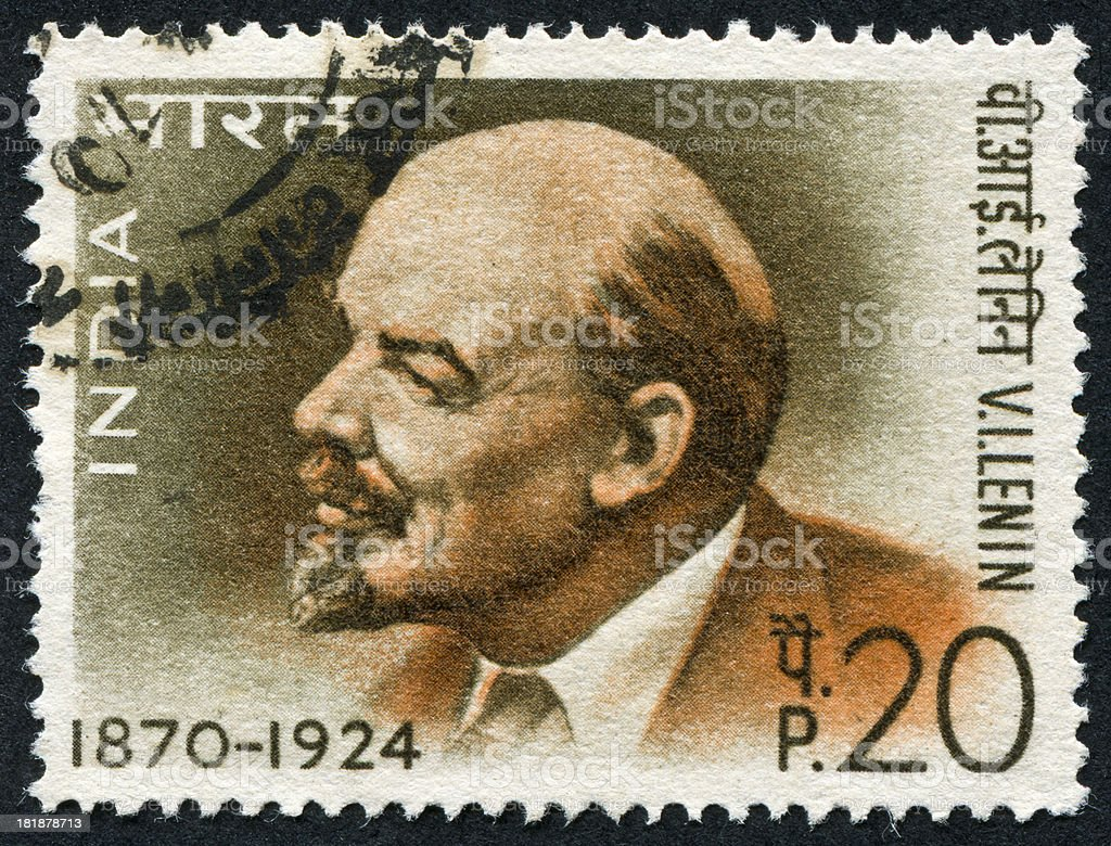 Vladimir Lenin Stamp royalty-free stock photo