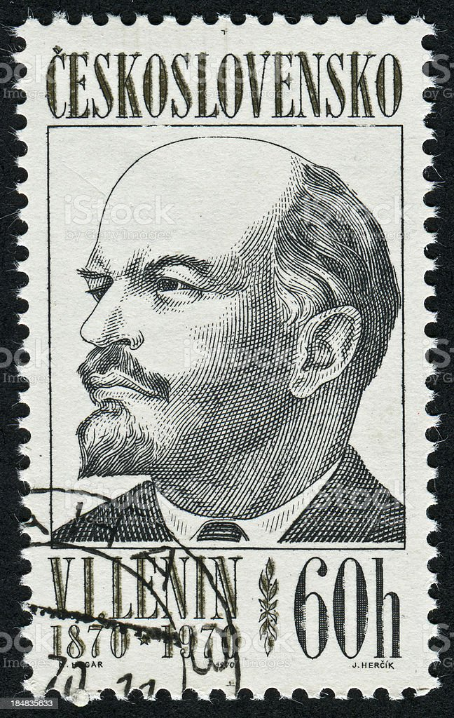 Vladimir Lenin Stamp royalty-free stock photo