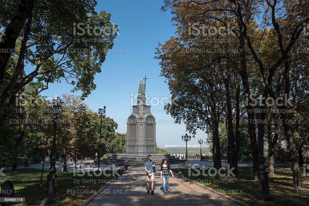 Vladimir monument in Kiev, Ukraine stock photo