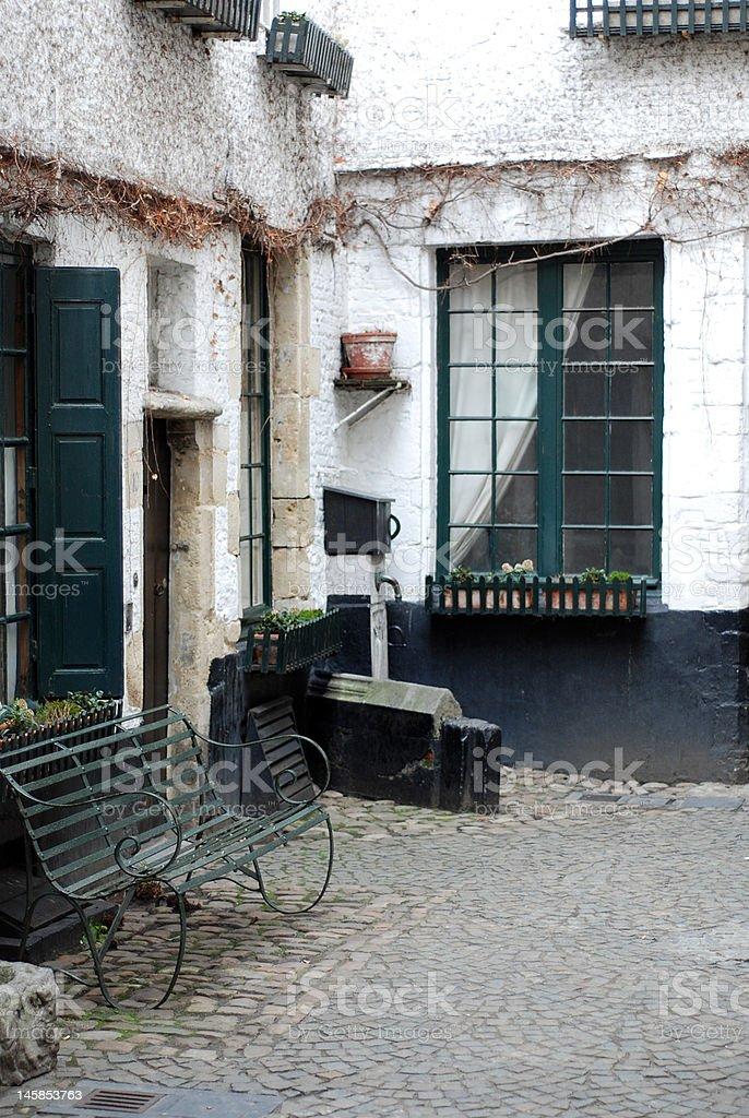 Vlaeykensgang Antwerp royalty-free stock photo