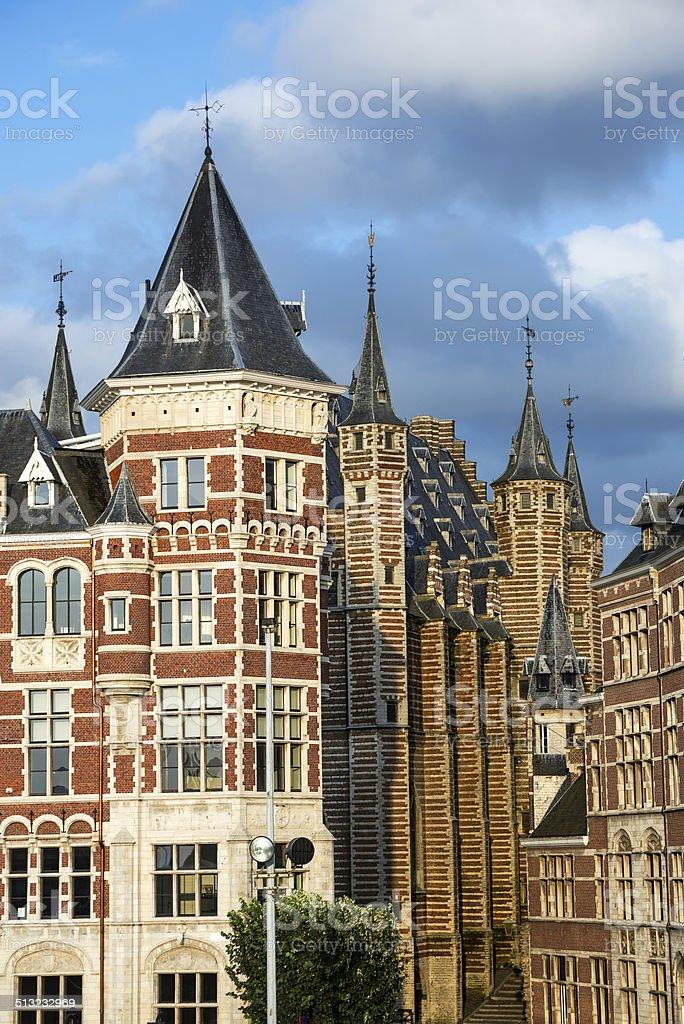 Vleeshuis in Antwerp, Belgium stock photo