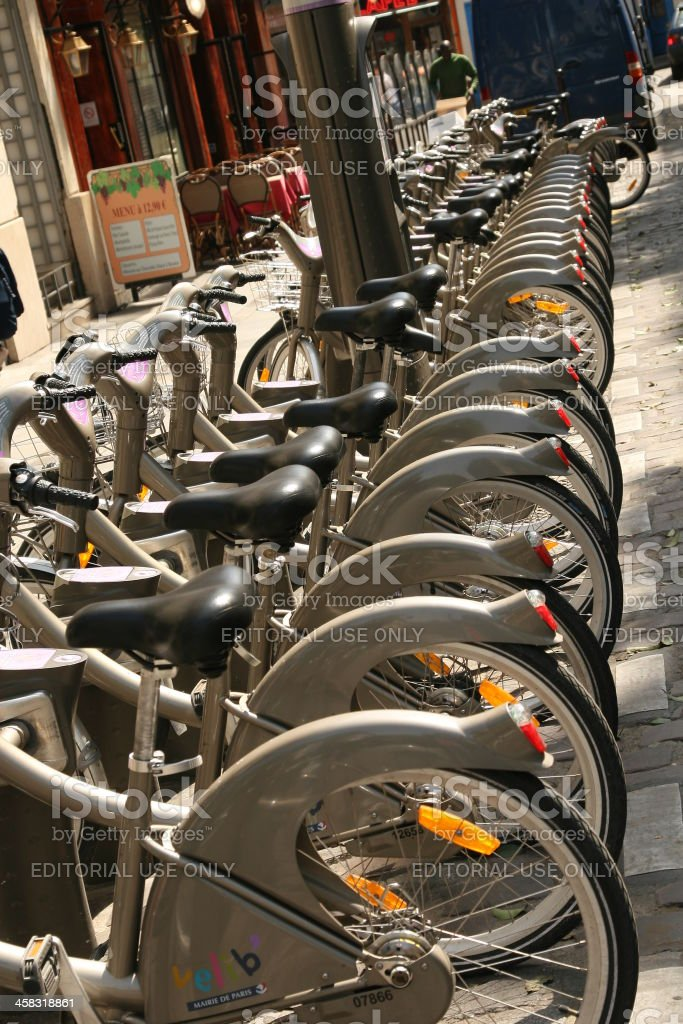 Vélib bikes stock photo