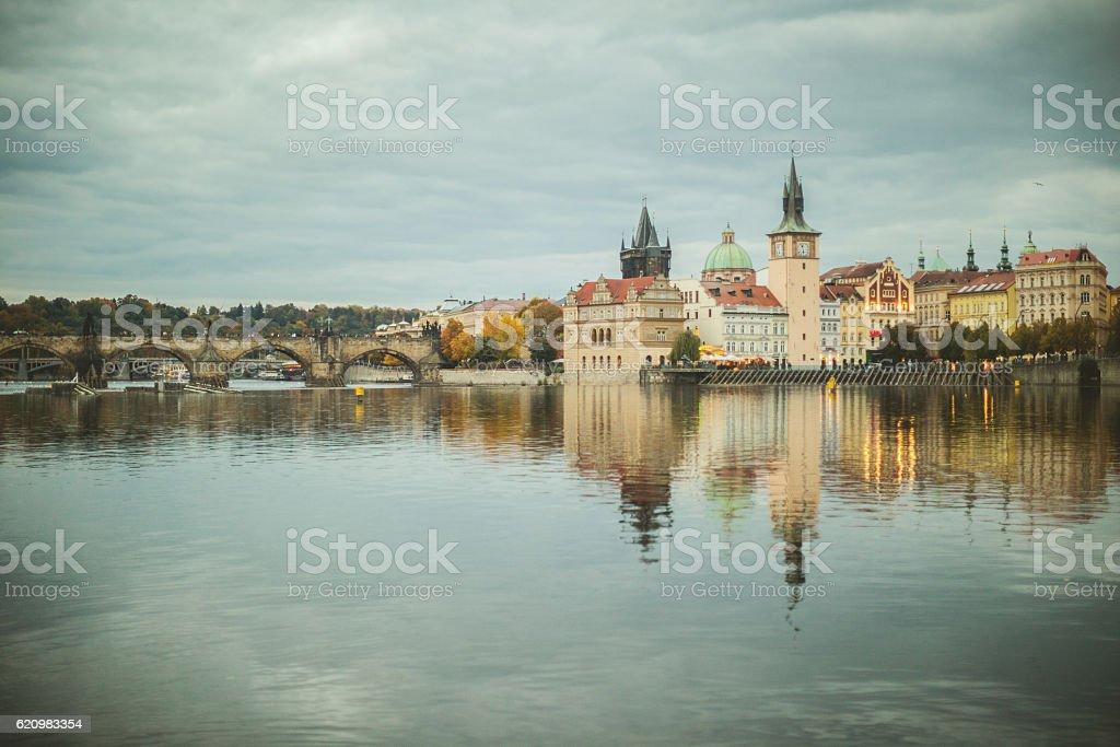 Vltava river stock photo