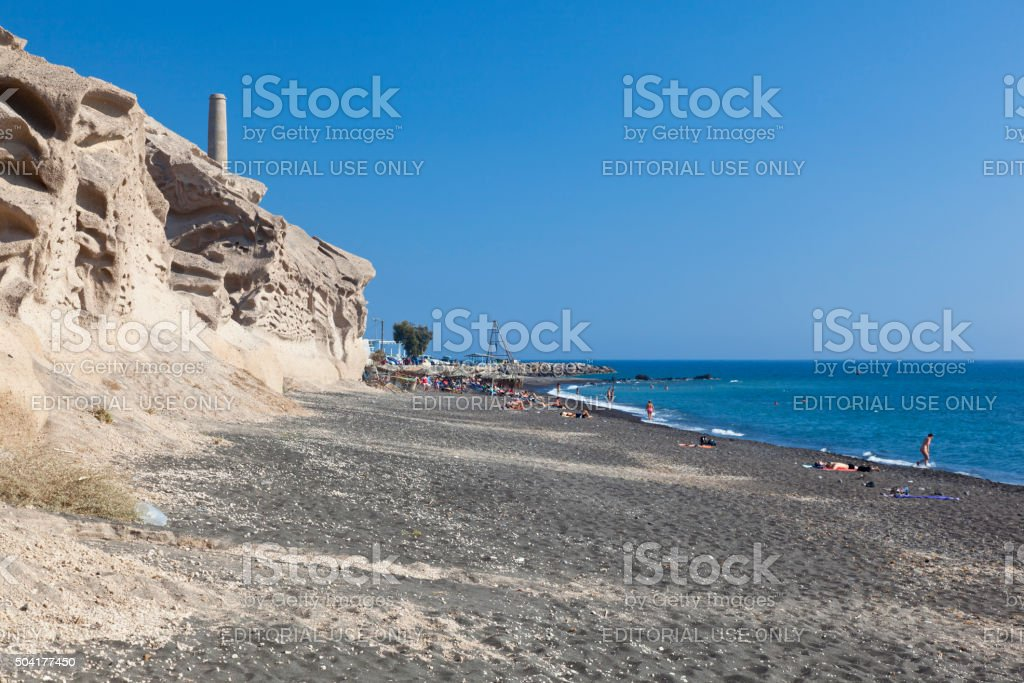 Vlychada Beach, Santorini stock photo