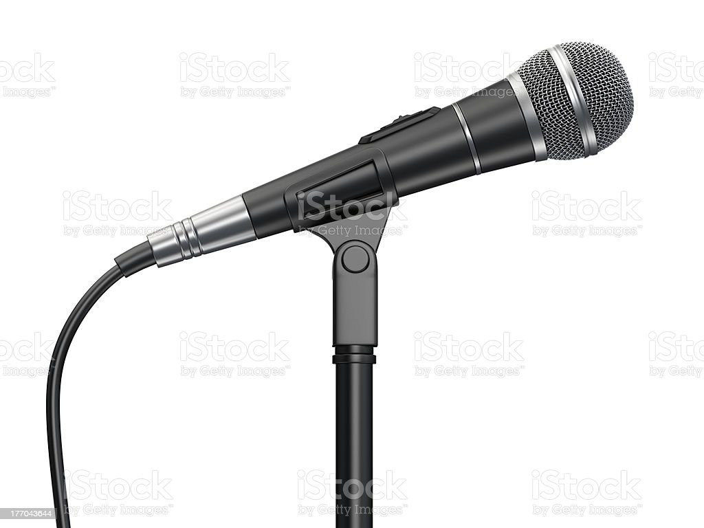 Vocal microphone stock photo