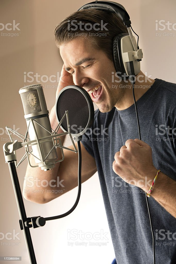Vocal Power royalty-free stock photo