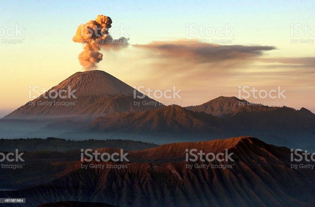 Vocano mount bromo Indonesia stock photo