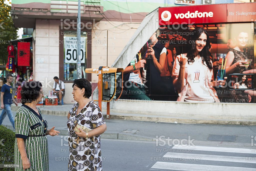 Vodafone advertisement in Albania stock photo