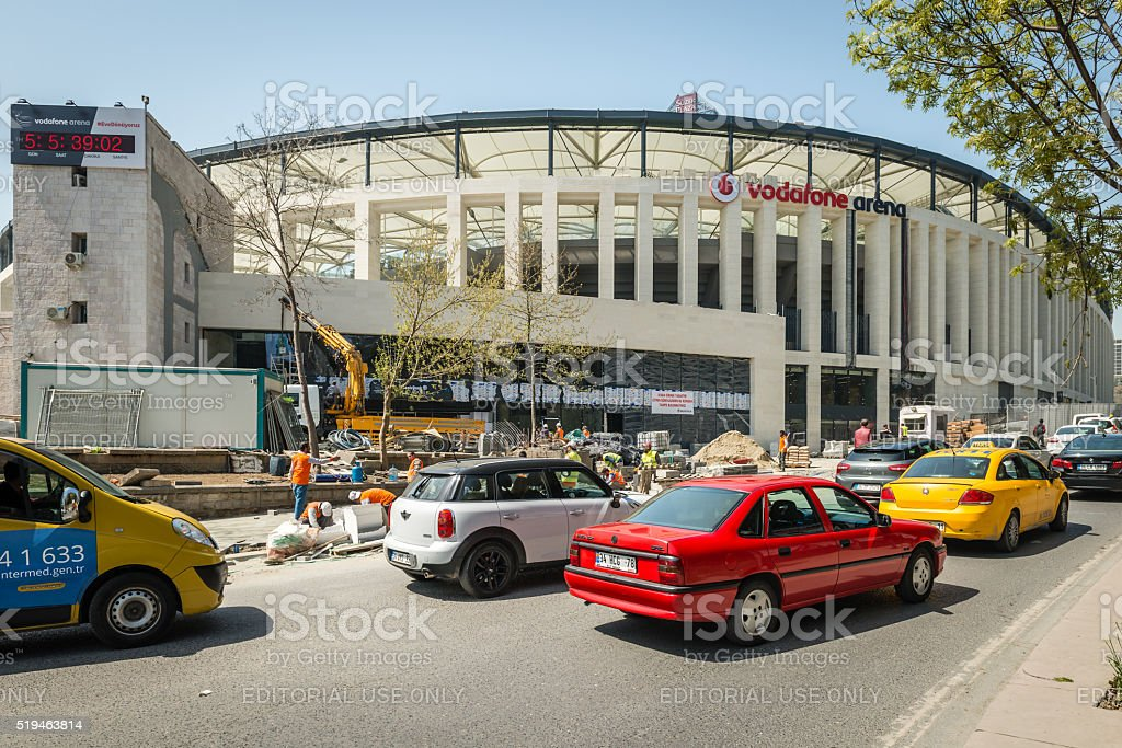 Vodafone arena in Istanbul, Turkey stock photo