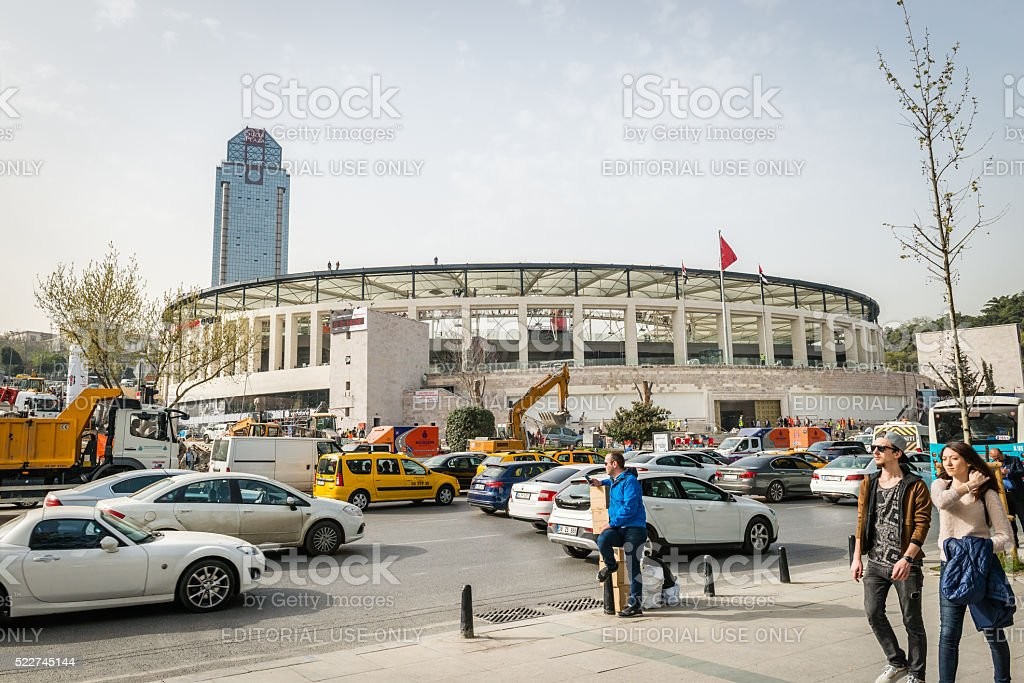 Vodafone arena under construction in Istanbul, Turkey stock photo