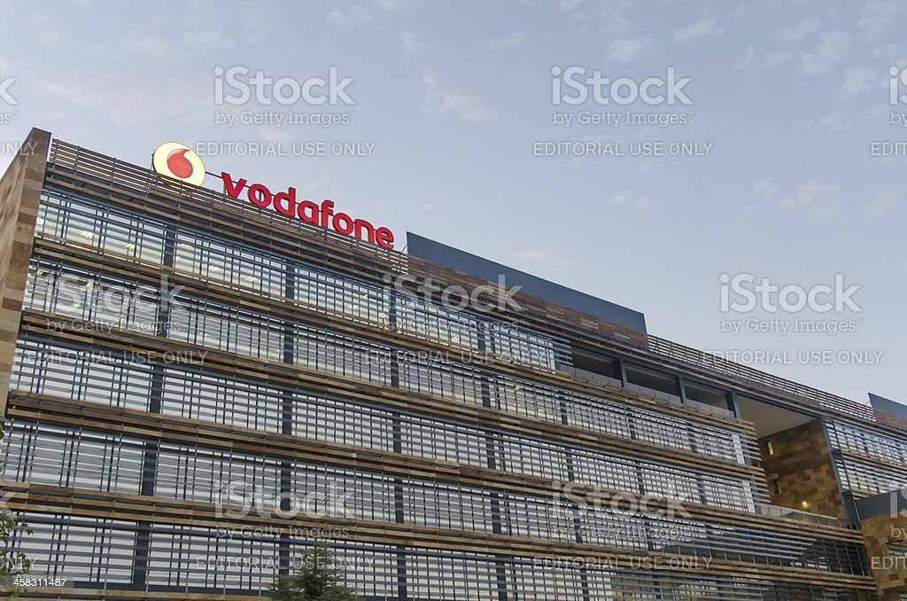 Vodafone building Madrid stock photo