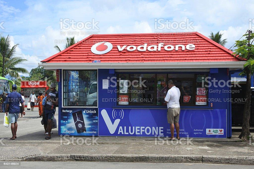 Vodafone Fiji store stock photo