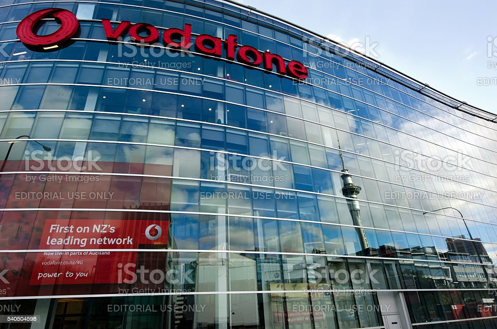 Vodafone - New Zealand stock photo