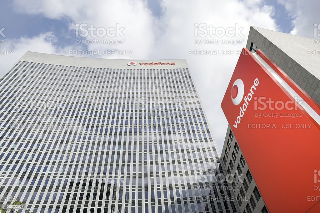Vodafone office building in Eschborn, Germany stock photo