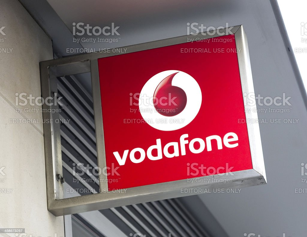 Vodafone - sign stock photo