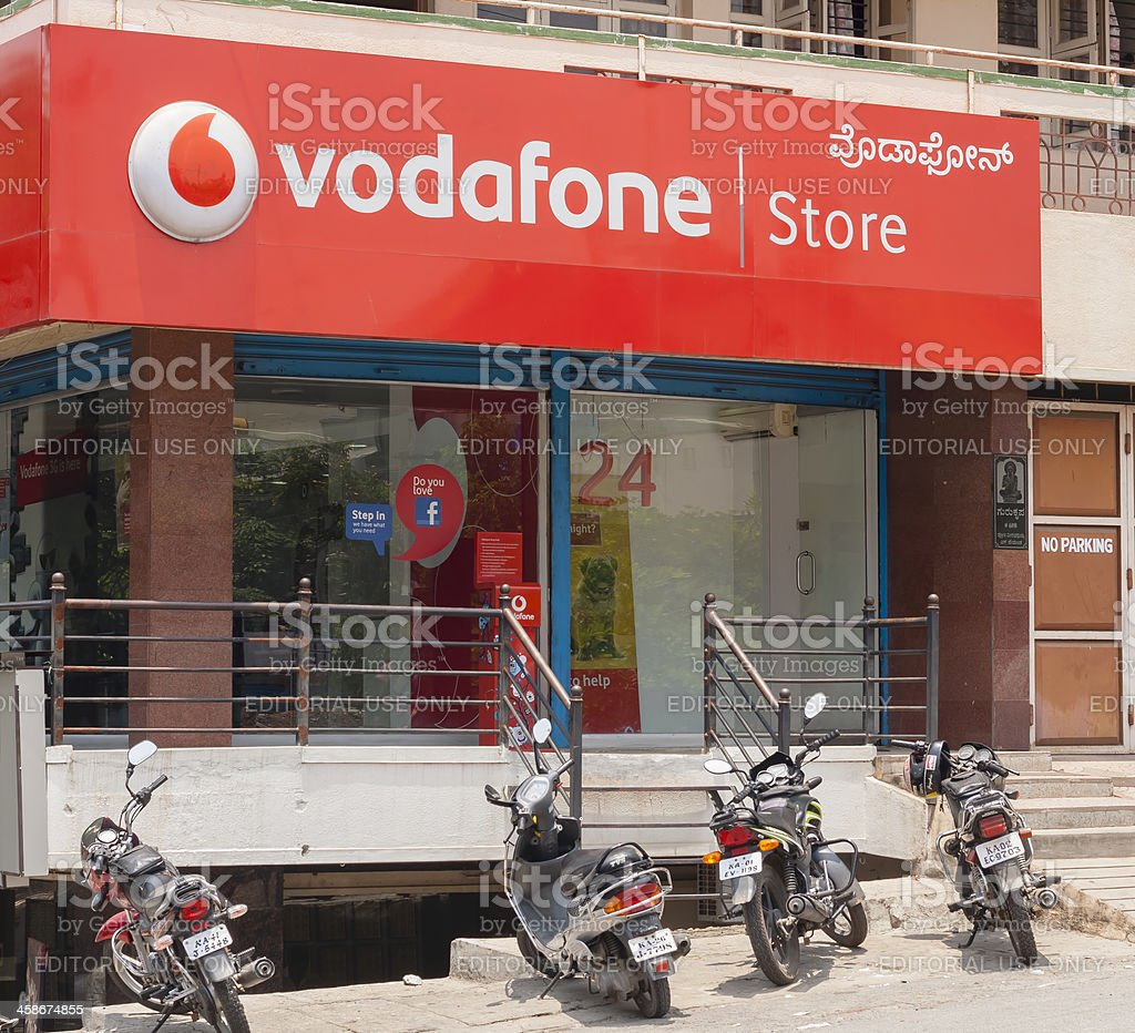 Vodafone store in Bangalore, India stock photo
