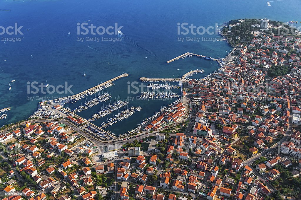 Vodice aerial royalty-free stock photo