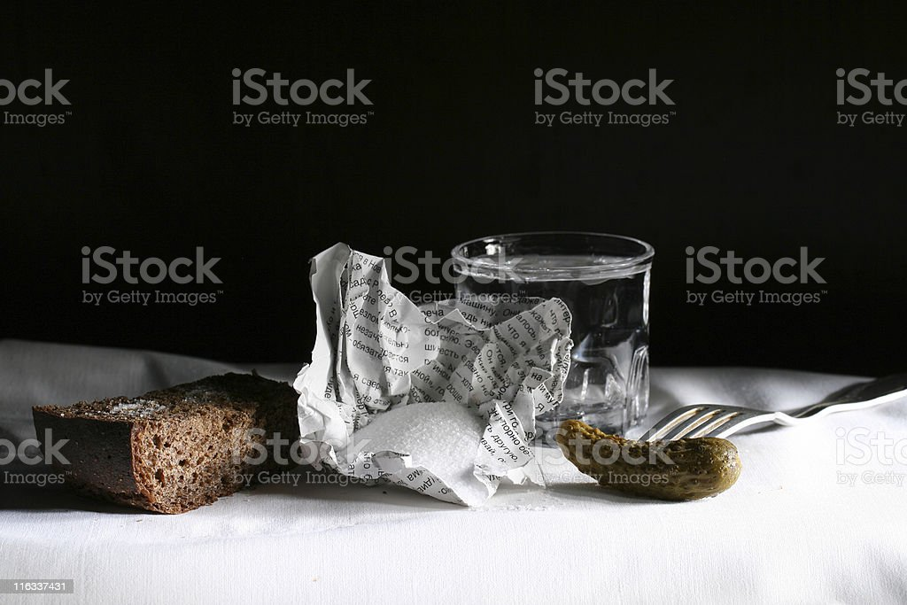 vodka and appetizer royalty-free stock photo