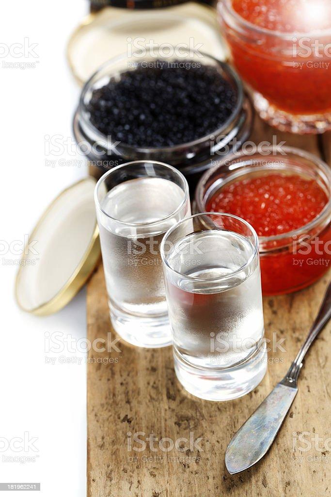 Vodka and caviar royalty-free stock photo
