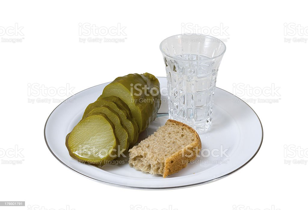 Vodka and Cucumber royalty-free stock photo