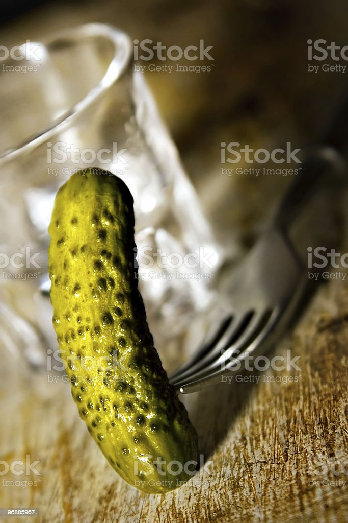 vodka and cucunber royalty-free stock photo