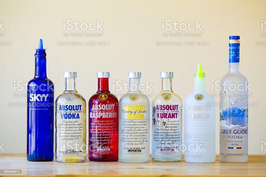 Vodka Bar Selection stock photo