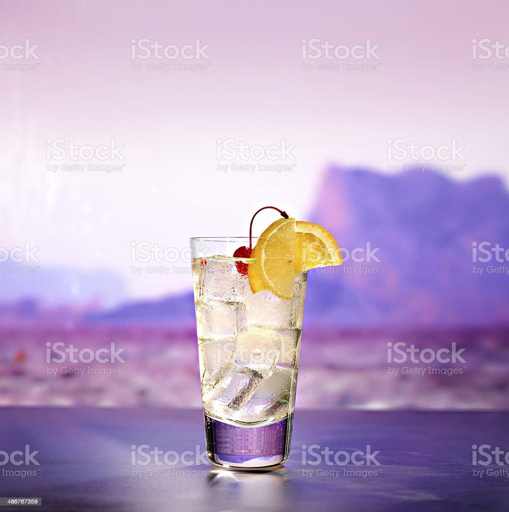 Vodka Collins Cocktail stock photo