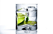 Vodka or Gin and Lime on the Rocks