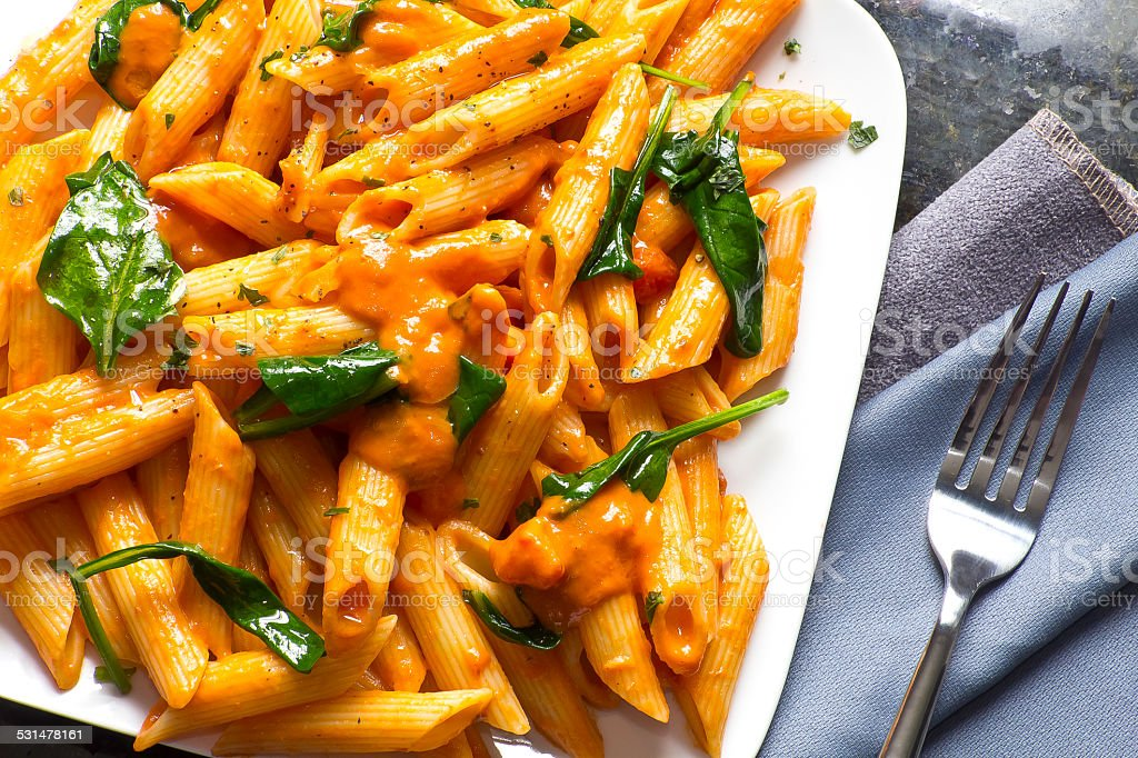 Penne Alla Vodka stock photo