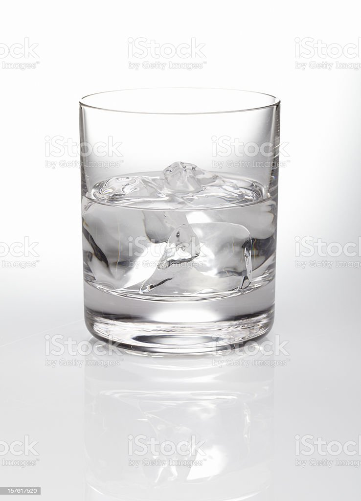Vodka rocks stock photo