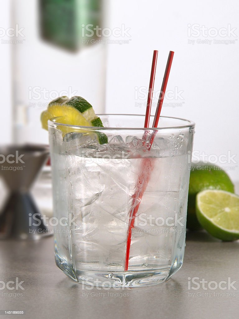 Vodka Tonic Cocktail royalty-free stock photo