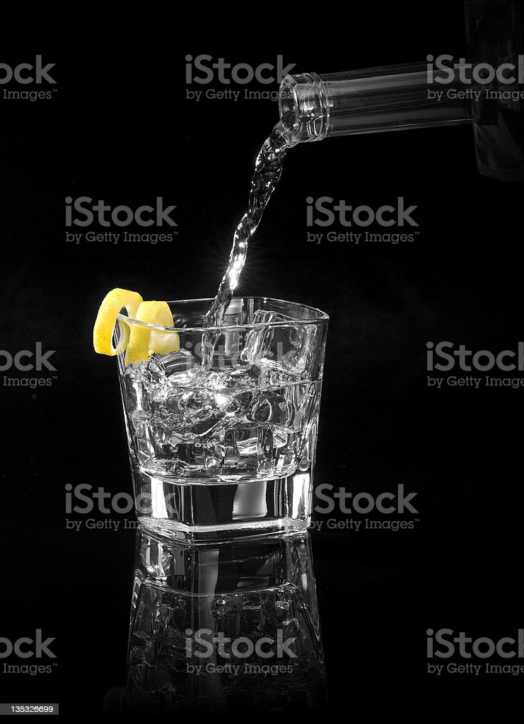 Vodka with a Twist stock photo