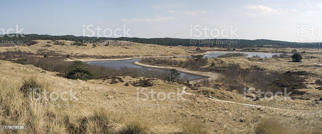 Vogelmeer (dunelake in the dunes near Schoorl, Netherlands) stock photo