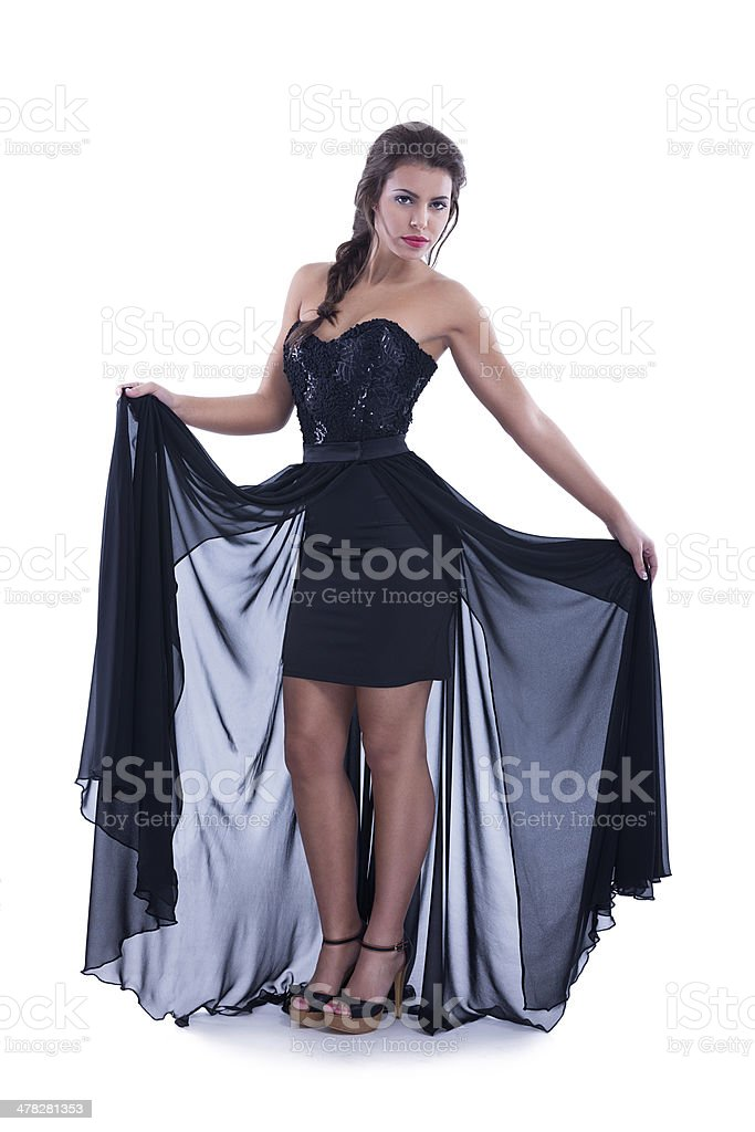 Vogue style photo of a young beauty royalty-free stock photo