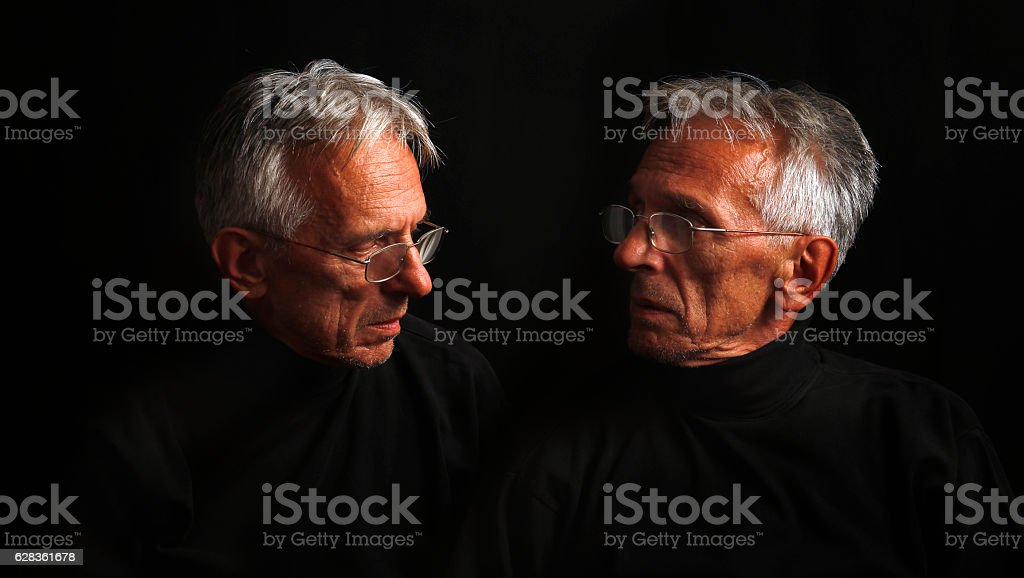 Voice of conscience stock photo